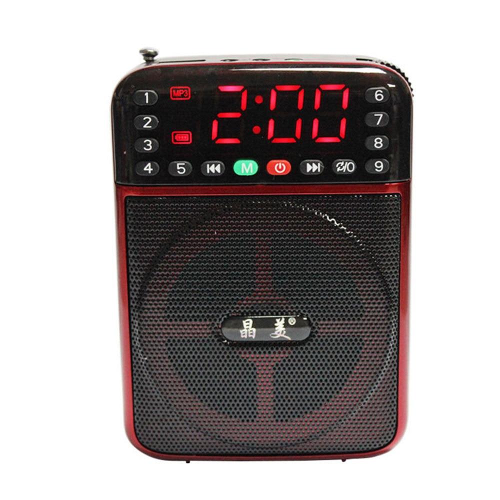 Luxury Multi-Functional MP3 Music Speaker LED Display Despertador Digital-watch Portable Digital Alarm Clock with Radio Function