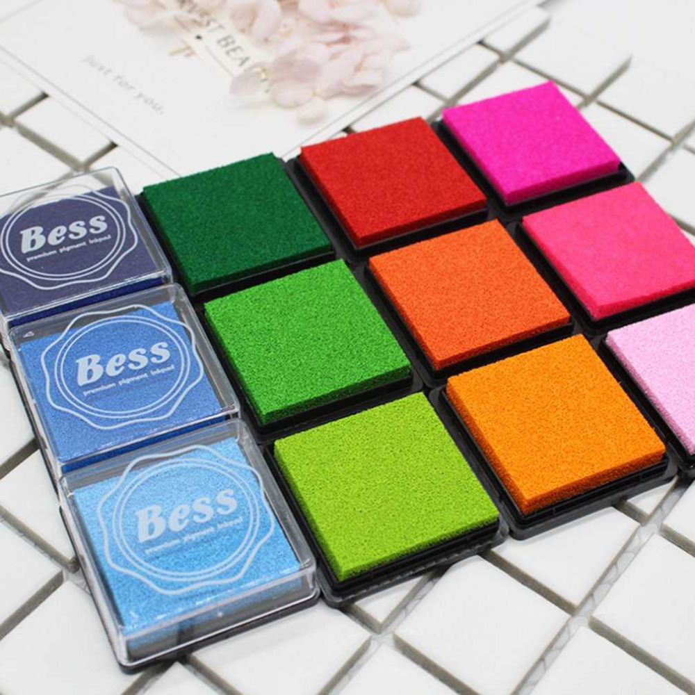 20 Colors/Set DIY Scrapbooking Colorful Craft Ink Pad Handmade Scrapbook Photo Album Children Students Stamps Toys Hot Sale