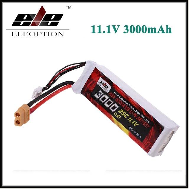 2017 Eleoption Alta Qualità Lipo Battery 11.1 V 3000 mah 25C XT60 Spina Per DJI Phantom 1 FC40 DJI F450 F550 FPV