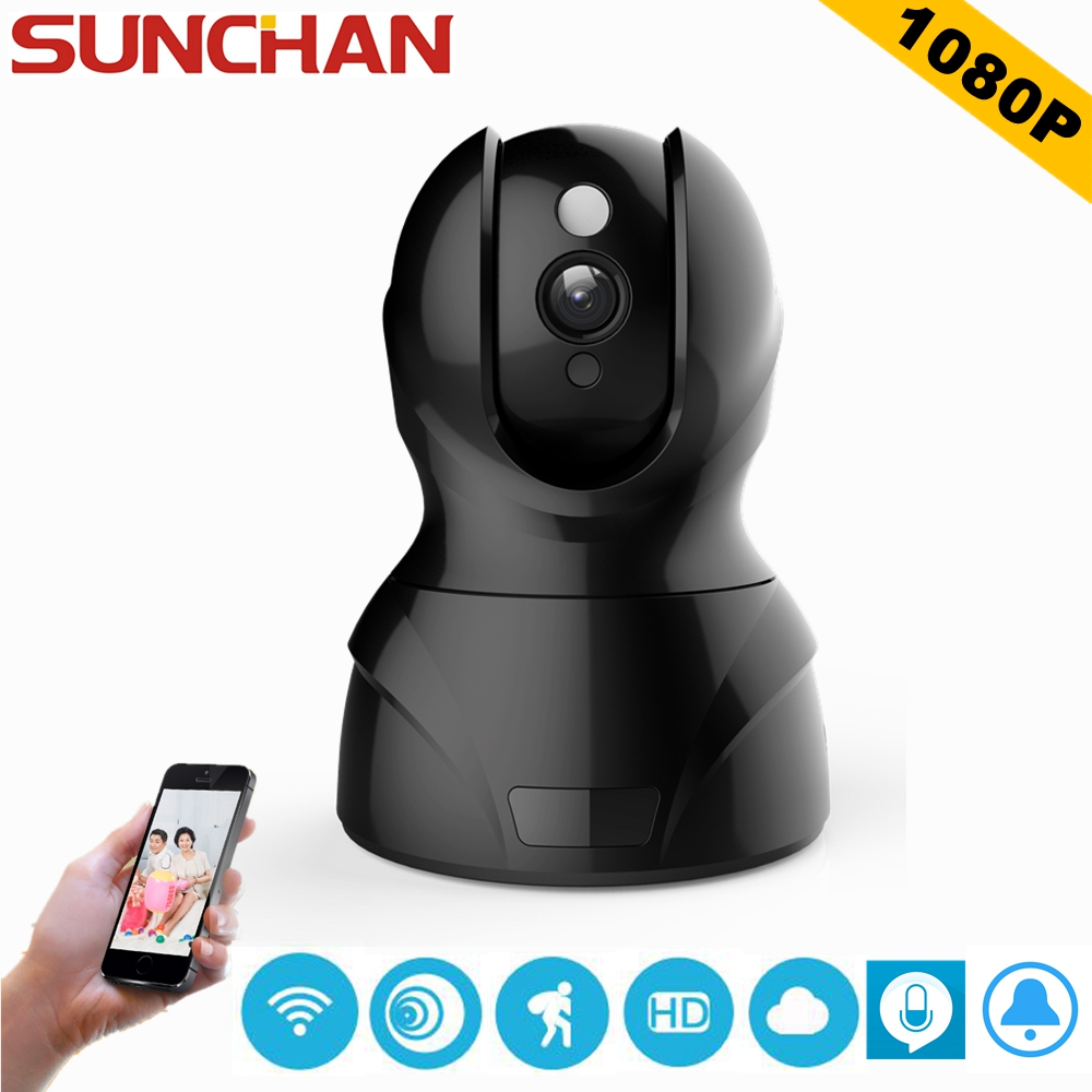 SUNCHAN 1080P HD WIFI IP Camera Wireless Home Security P2P Surveillance Camera  Night Vision CCTV Indoor Camera Array LED