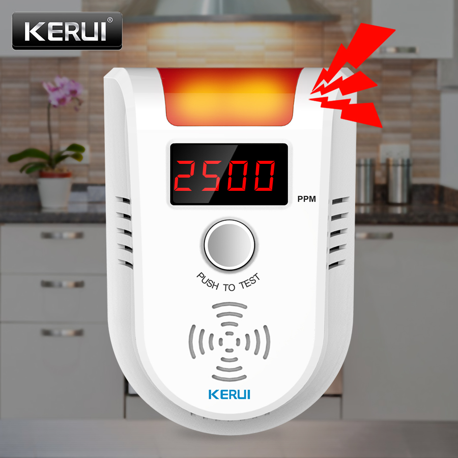 KERUI GD13 Gas Detector Alarm LPG Gas LED Display Wireless Intelligent Sensor Voice Auto Detect Sensor Nature Leak Alarm System