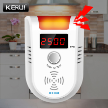 KERUI GD13 LPG Gas LED Display Gas Detector Wireless Intelligent Sensor Voice  Auto Detect Sensor Failure Leak Alarm System