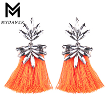 New Vintage Fringing Drop Earrings Fashion Boho Maxi Luxury Crystal Dangle Tassel Earrings for Women Statement Jewelry Wholesale