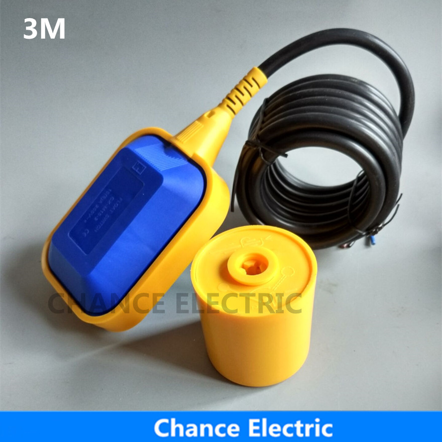 float switch water level controller sensor 3m hot sales square cable type blue yellow color Float Switch (CX-M15-2) 10m pvc float level switch cable float switch liquid fluid water pump level no nc controller sensor m15 5
