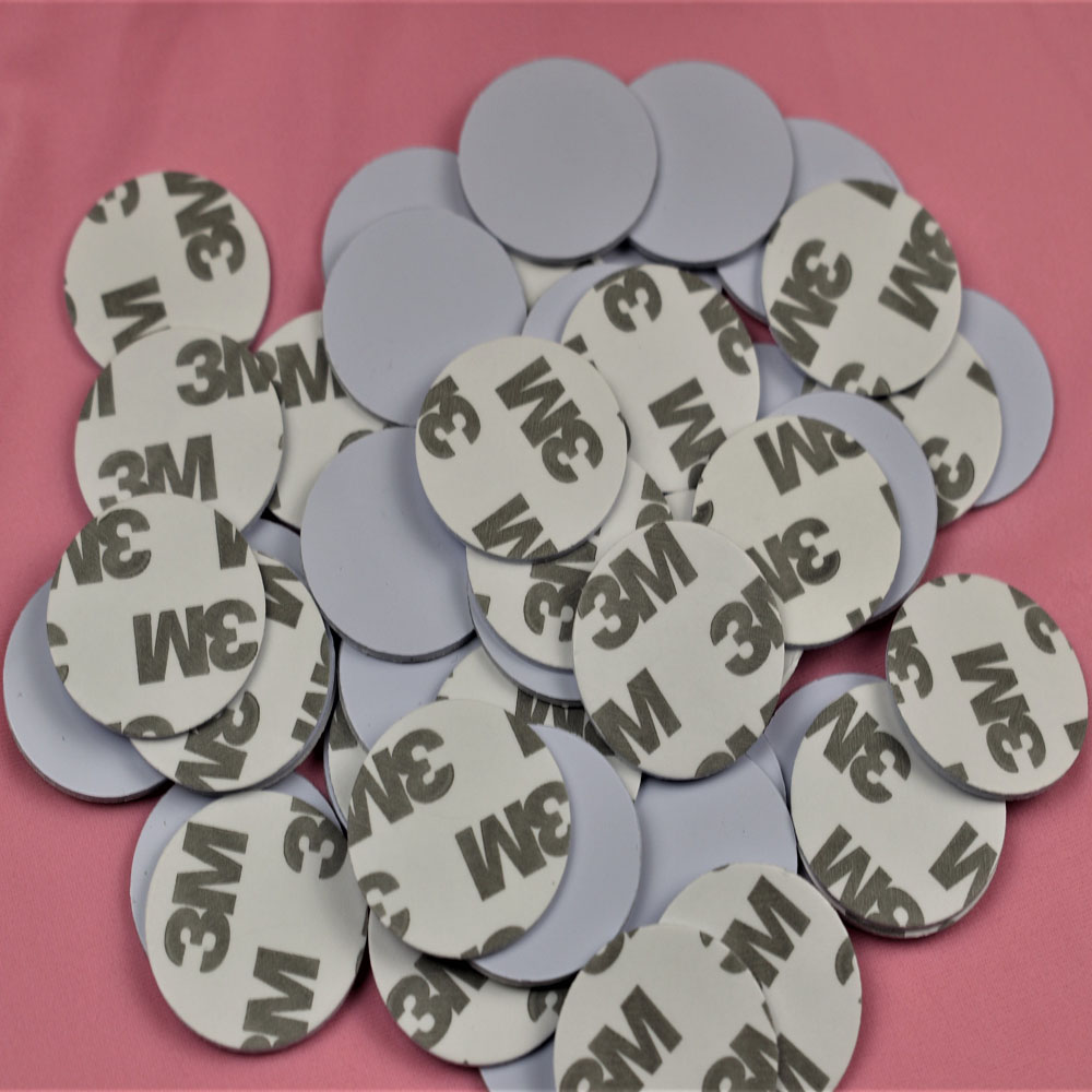 10pcs 13.56MHZ NFC Tags MF 1K S50 F08 ISO14443A Smart NFC Coin Card Dia 25mm With 3M Adhesive Glue Sticker