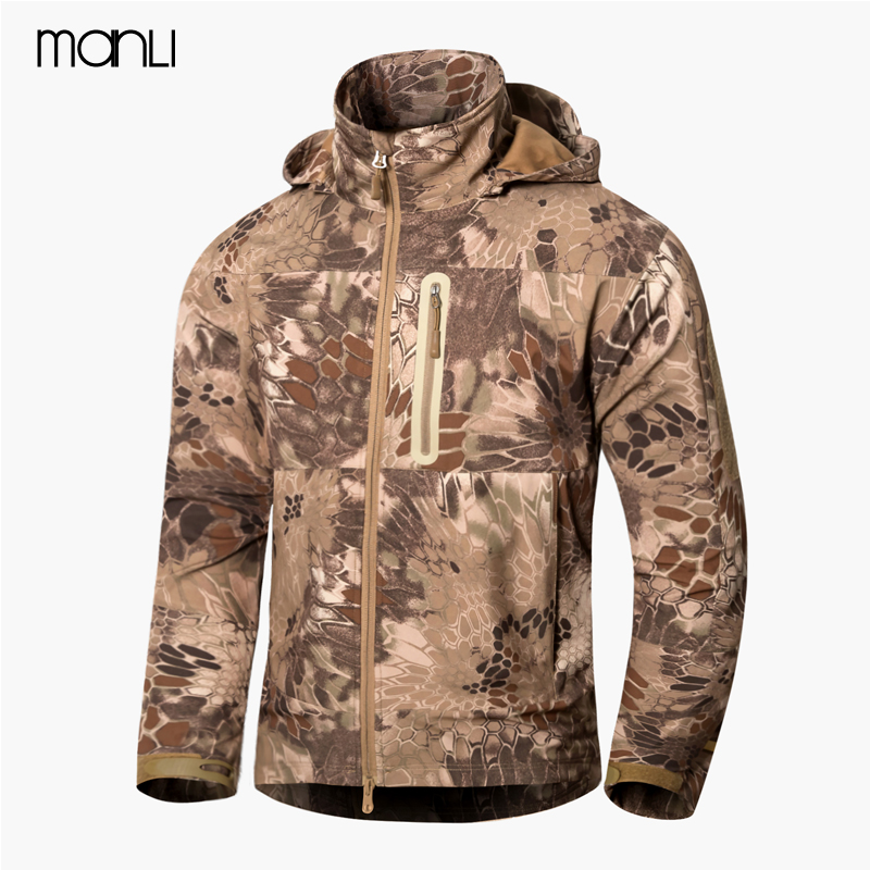 MANLI High Quality TAD Shark Soft Shell Jacket Men Outdoor Waterproof Jackets Softshell Hunting Clothes Tactical Camping Hiking 2016 high quality alpha n 3b mens shark softshell jacket tad outdoor male warm waterproof man fleece jackets outerwear