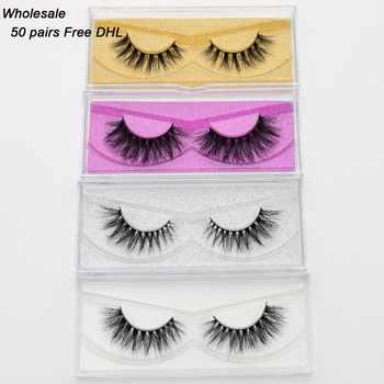 Free DHL 50 pairs Visofree Eyelashes Mink False Eyelashes Handmade Mink Collection 3D Dramatic Lashes 32Styles Glitter Packaging - Category 🛒 Beauty & Health