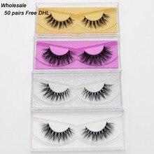 5864ad351d5 Free DHL 50 pairs Visofree Eyelashes Mink False Eyelashes Handmade Mink  Collection 3D Dramatic Lashes 33Styles
