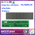 free shipping F3.75 led matrix led display module 16*64 dot 76*304mm P4.75 indoor electronic led open sign board led taxi top