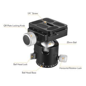Image 4 - Andoer BK 25 Aluminium Alloy Tripod  BallHead Ball Head Mount Adapter with 1/4 inch or 3/8 inch screw MAX load 15kg/33lbs