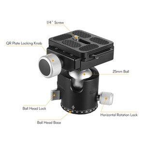 Image 4 - Andoer BK 25 adaptador de montaje de cabeza de bola de trípode de aleación de aluminio con tornillo de 1/4 pulgadas o 3/8 pulgadas carga máxima de 15kg/33lbs