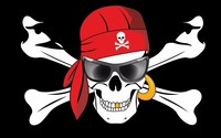 Pirate Flag 3X5 Ft Custom Jolly Roger SUN GLASSES SKULL AND CROSS Banner 90x150cm