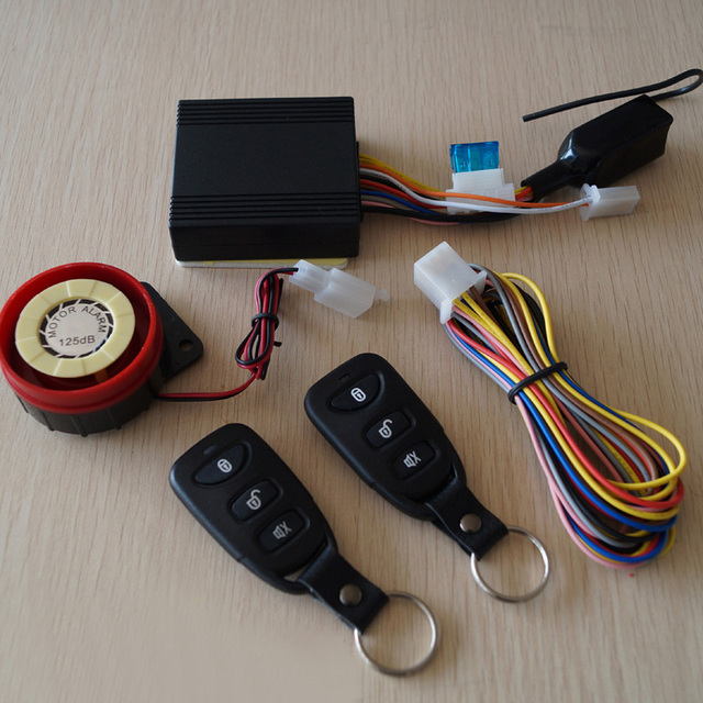 Professional Motorcycle Bike Anti-theft Security Alarm System Remote Start Driving Vibration Waterproof + 2 Remote Control