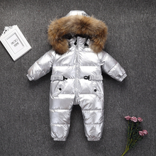 803 New Born Baby Warm Clothing Winter Baby Rompers Overalls Snowsuit Toddler Down Jacket Winter Outwear Boy Jumpsuit Snow Wear