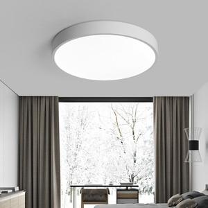 Image 4 - Schwarz Weiß Moderne Led Kronleuchter Acryl Runde Kronleuchter Decke Für Wohnzimmer Bett Zimmer Küche Ultra dünne Leuchte