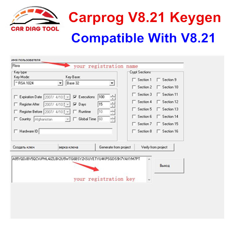 US $3 5 |Carprog V8 21 Keygen For Online Version CarProg 8 21 Activator  Generate Key For Hardware ID Car Prog ECU Programmer-in Code Readers & Scan