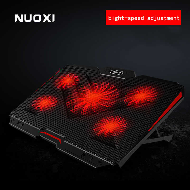NUOXI New Laptop cooler 2 USB Ports and Five cooling Fan laptop cooling pad Notebook Stand for 12-17 inch for LaptopNUOXI New Laptop cooler 2 USB Ports and Five cooling Fan laptop cooling pad Notebook Stand for 12-17 inch for Laptop