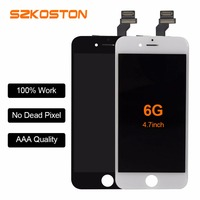 SZKOSTON Great Quality LCD Display For iPhone 6 for iphone 5s 5 5G LCD Touch Screen Digitizer Assembly Replacement Black/White