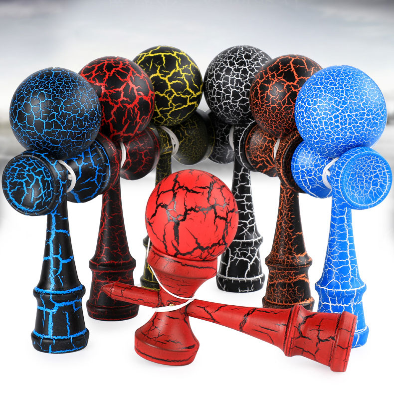 Regelmäßige Professionelle Kendama Ball Holz Spielzeug Outdoor Geschickte Jonglierball Spielzeug Stress Ball Frühen Bildung Spielzeug für Kinder
