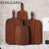 1pc good qulaity walnut wooden rectangle long heavy pizza plate serving tray