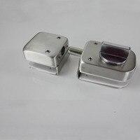 Brand New 304 Stainless Steel Frameless Shower Glass Door Lock Bidirectional Unlock Glass Door Latches No Dirlling