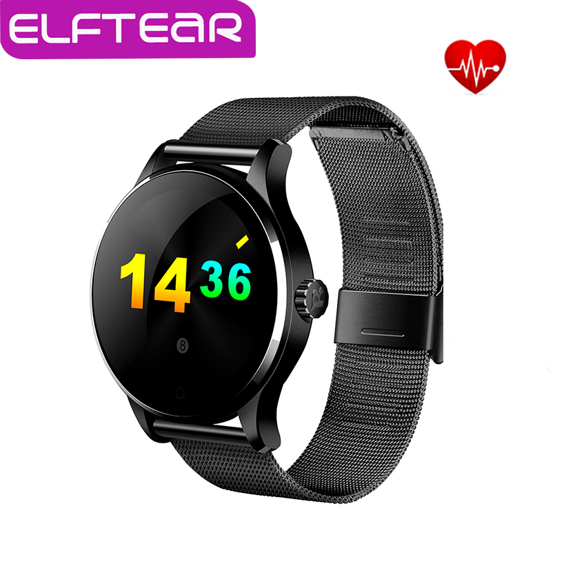 Original K88H Bluetooth Smart Watch Health Metal Smartwatch Heart Rate Monitor for apple iphone huawei moto phone pk dz09 gt08