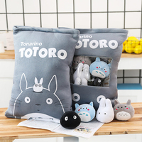 Candice guo one bag plush toy stuffed doll anime funny totoro pillow pocket cushion package kid birthday christmas gift 8pcs/bag