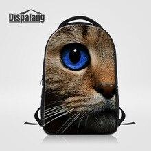 Dispalang женские и мужские рюкзаки милый кот собака печать школьная сумка для подростков девочек ноутбук рюкзак сумка дорожная сумка Mochila Femininas