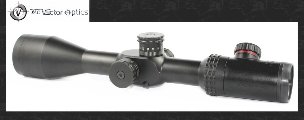 Vector Optics Sentinel 4-16x50 E-SF Hunting Riflescope MP Reticle Long Eye Relief Scopes Tactical Turrets with Lock Function