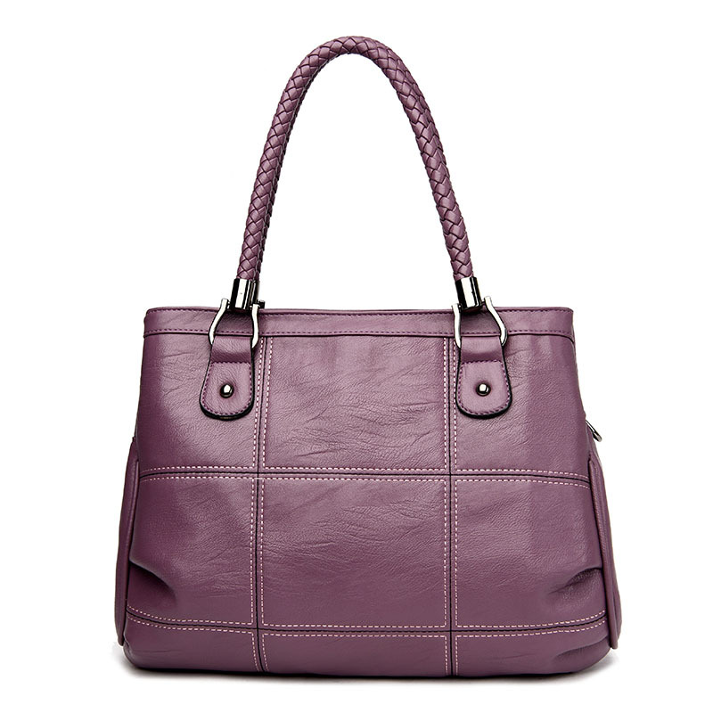 Women\'S Genuine Leather Handbags Large Capacity Shoulder Crossbody Bags Messenger Bag Hobos Women Bags