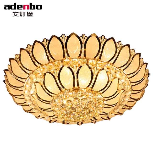 Big Lotus Blume Moderne Deckenleuchten Mit Glas Lampenschirm Gold