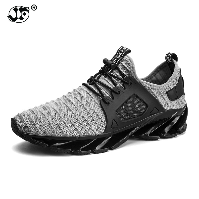 2018 hot sale spring summer fashion trend men sneakers size 39-44 comfortable breathable lace-up gray black casual male shoes 86