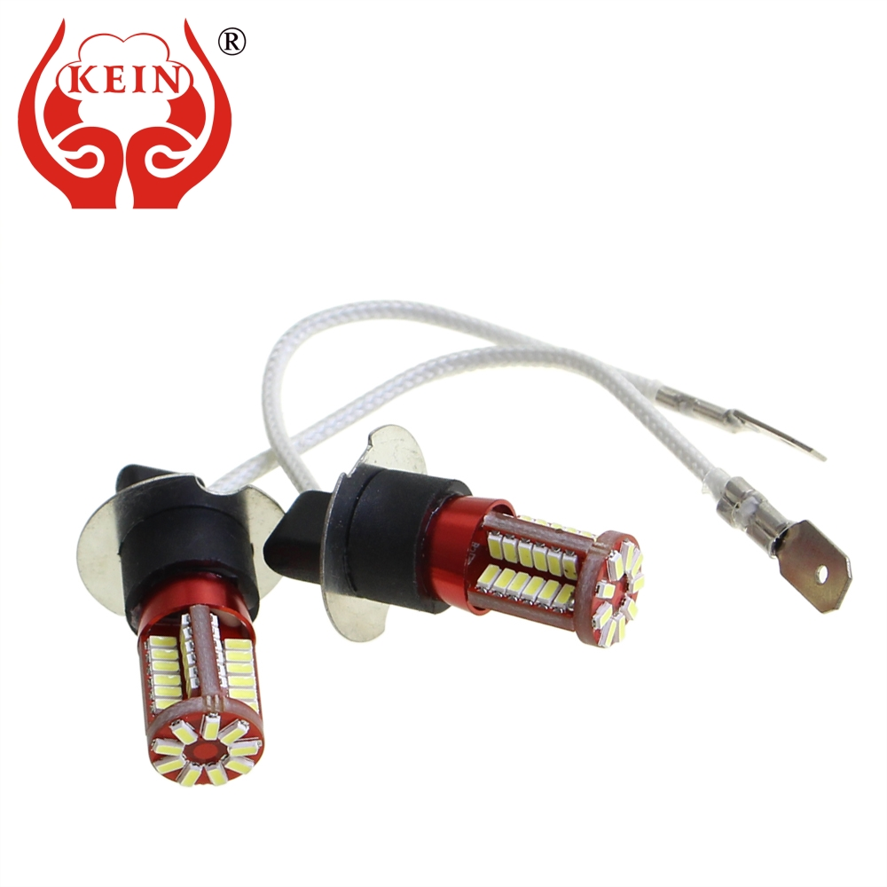 KEIN 2PCS h8 h11 led Bulb 57SMD H1 H3 H7 9005 9006 880 881 H27 HB3 HB4 Fog lights Signal Bulbs car led DRL Daytime Running auto