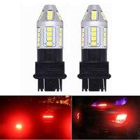 Liplasting 2 Cái 3157 Red LED Flashing Strobe Đèn Nhấp Nháy Xe Red Rear Cảnh Báo An Toàn Phanh Tail Dừng LED Đèn Đỗ bóng đèn