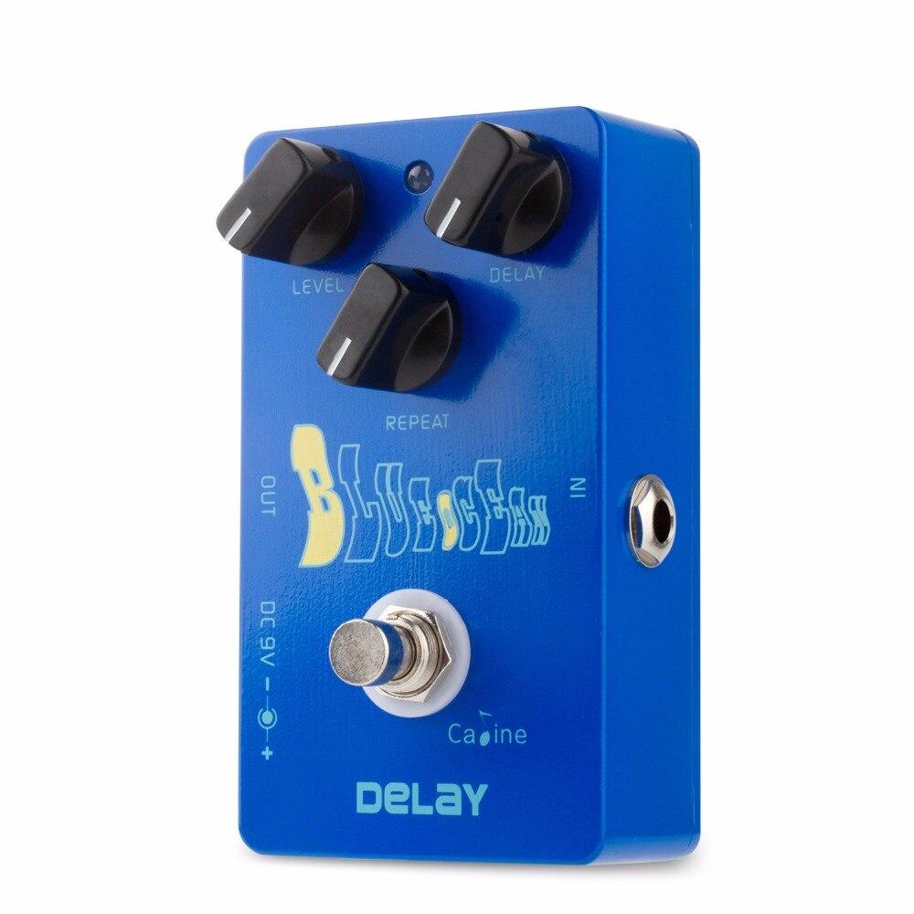 Caline CP-19 Océano Azul retraso Pedal de efectos de guitarra Bypass verdadero de guitarra de alta calidad accesorios retraso Pedal efecto partes de guitarra