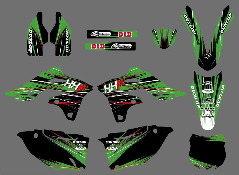 Motorcycle Stickers <font><b>Decals</b></font> Graphics For Kawasaki <font><b>KX250F</b></font> KXF250 KXF 250 KX 250F 2013 2014 2015 2016 image
