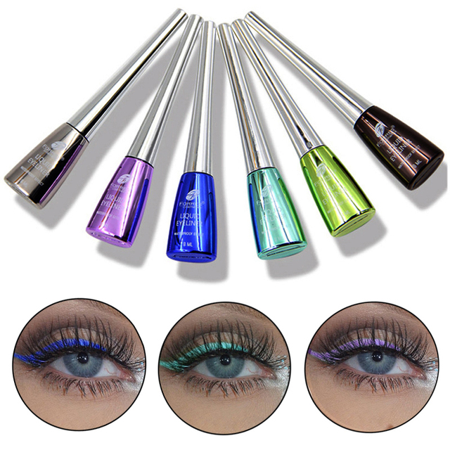 New Brand Colorful Eye Liner Makeup Cosmetics Waterproof Long Lasting Pigment Laser Blue Silver Liquid Make Up Color Eyeliner