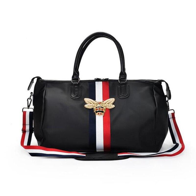 2018 Fashion Brand Travel Bags WaterProof Large Capacity Hand Luggage Traveling Bee Bag Women Weekend Travel Duffle Bag Handbags