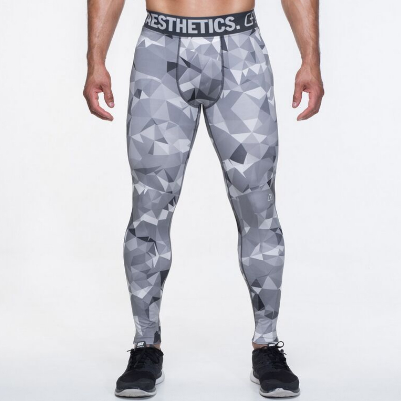 2018 Vīriešu kompresijas bikses Ziemas ikdienas bikses Capris zeķubikses Skinny Leggings Camouflage bikses Fashion vīriešu bikses 2XL 50