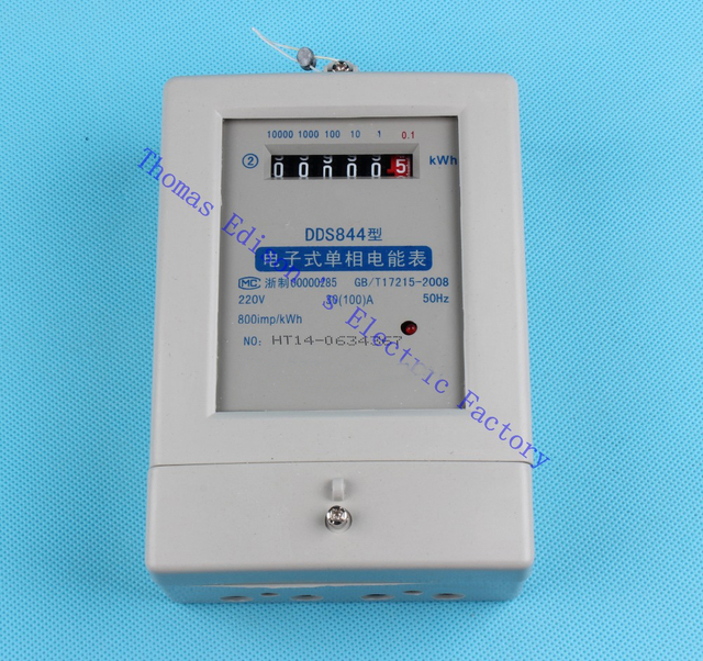 Single phase two wire electric energy meter KWH analog watt 15(60 ...