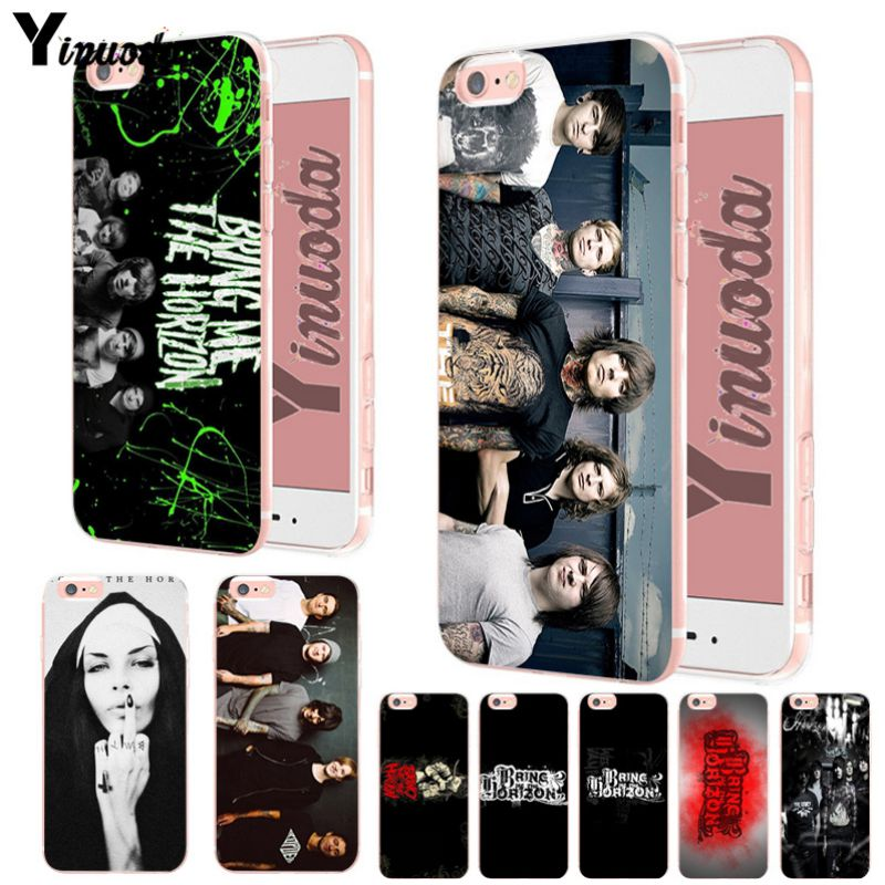 Yinuoda Bring Me The Horizon Bmth Soft silicone Cover case For iPhone 6 6plus 7 7Plus 8 8plus X