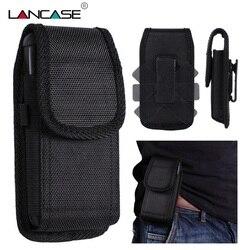 LANCASE sac pour pochette de téléphone pour Xiaomi Redmi Note 5/4X/4A sac de téléphone pour iPhone 7/6 étuis 360 Rotation Clip ceinture coque de téléphone