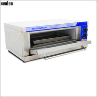 XEOLEO Household Baking Oven1 Layer 1 Plate Electric food Oven Pizza Oven Stainless steel baking machine for Bread/Pizza 3200W