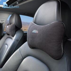 Image 2 - AIRSPEED Leather Car Pillow Neck Pillow Headrest Accessories Universal for BMW ///M E46 E90 E92 E60 E39 E36 F30 F10 F20 G30 E87