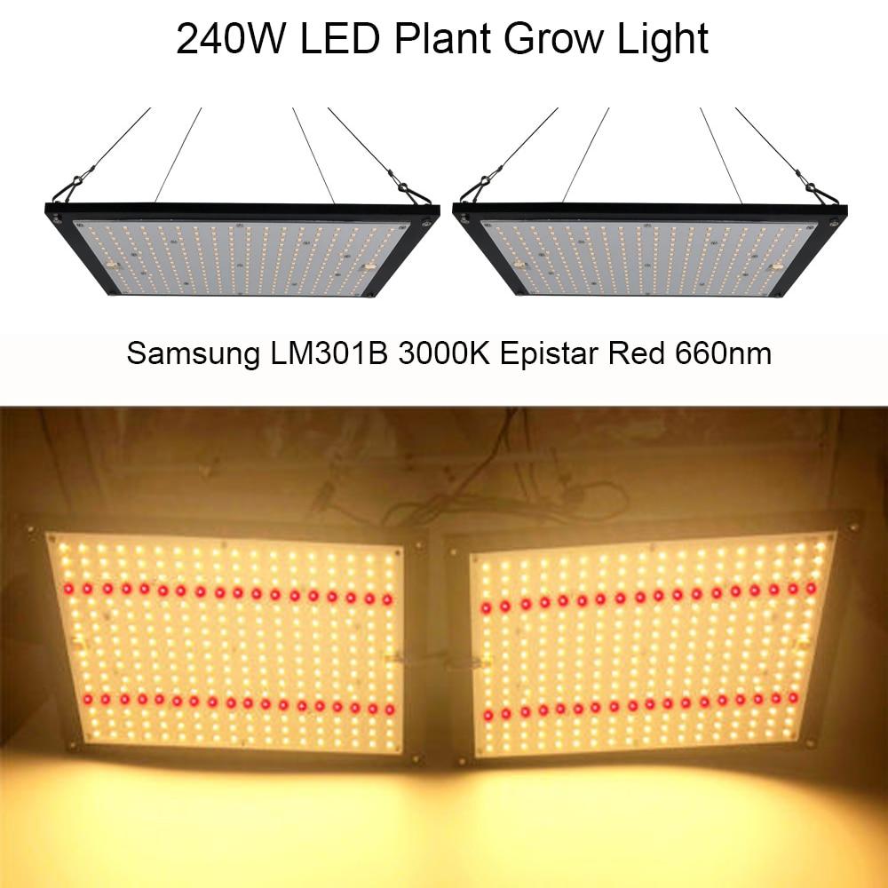 Super Lumineux 120 W 240 W led Élèvent La Lumière Quantique Conseil Spectre Complet Samsung LM301B SK 3000 K Rouge 660nm meanwell Pilote bricolage