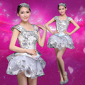 New Design Ballroom Dance Clothes for Women White  DJ Modern Dance Costumes Stage Costumes