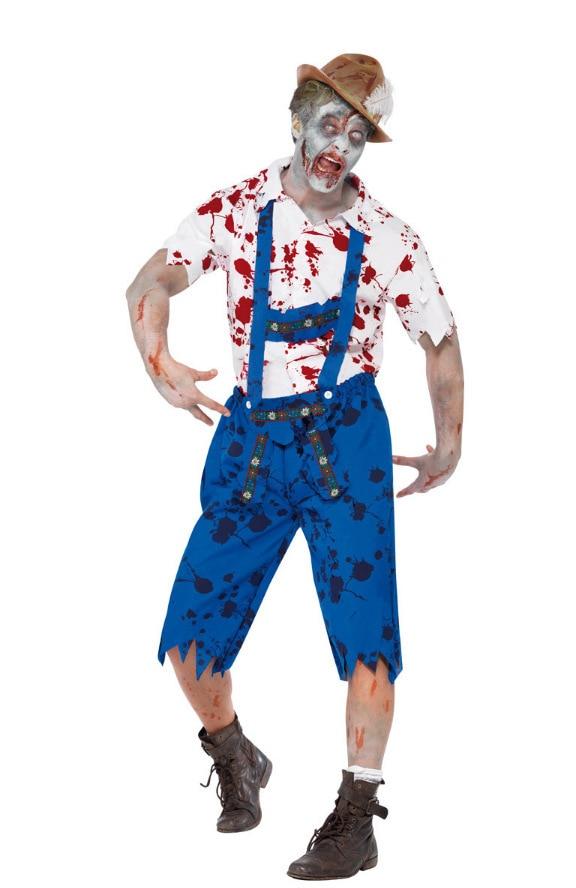 Men Horror Bloodstain Devil Costume Vampire Halloween Carnival Party Cosplay Exotic Performance M/XL