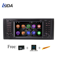 LJDA 2 Din In Dash Android 7.1 Car DVD Player For BMW E39 X5 E53 M5 Radio GPS Navigation Audio Steering Wheel Stereo Multimedia