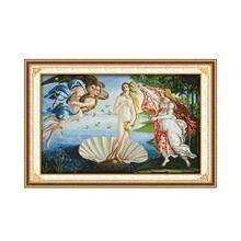 Набор для вышивания крестиком Венера, 14 карат, сумка из материала ручной работы, DMC Spiraea, украшение для мебели, подвесная картина