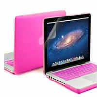 Bolsa de ordenador portátil caso transparente Crystal Shell para portátil Apple MacBook Air 13 pro 13 retina 12 manga notbook 3 en 1 Sin Logo